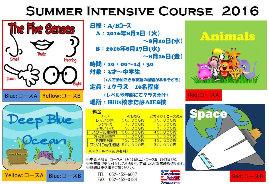 Summer Intensive 2016